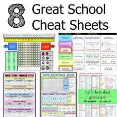 School Cheat Sheets via @jfishkind