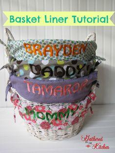 DIY Easter Basket Liner Tutorial #diy #easter #tutorial #basket