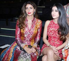 Shweta Nanda with daughter Navya Nanda at the India Bridal Fashion Week. #Bollywood #bmwibfw #Fashion #Style #Beauty