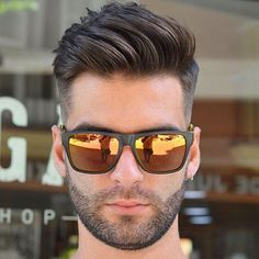Fade with Angular Comb Over