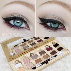 Champagne taupe eyeshadow with winged eyeliner using our Nude'tude palette. Taupe Eyeshadow, Neutral Eyeshadow Palette, Eyeshadow Looks, Cute Makeup Looks, Makeup Looks For Brown Eyes, Love Makeup, The Balm Makeup, Skin Makeup, Winged Eyeliner