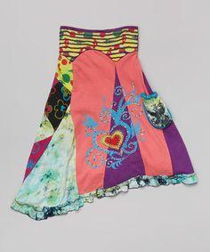 Love this Coral Heart Handkerchief Skirt - Girls on #zulily! #zulilyfinds
