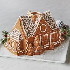 Simplify your family tradition, Gingerbread House Bundt Cake is so easy to make and decorate. No crumbling walls or crying kids, and yes, it's delicious!