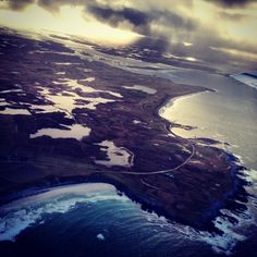 South Uist - The coast... View from Flybe plane. January 2014 from www.southuist.com