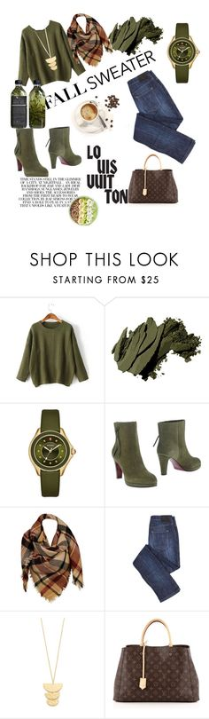 """""""fall look"""" by stephaniearce17 ❤ liked on Polyvore featuring WithChic, Bobbi Brown Cosmetics, Michele, L'Autre Chose, Sylvia Alexander, Gorjana, Louis Vuitton and AMBRE"""