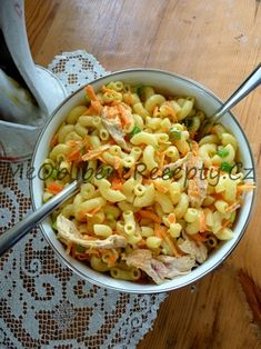 Těstovinový salát v jogurtu Pasta Salad, Ethnic Recipes, Food, Crab Pasta Salad, Essen, Meals, Yemek, Eten