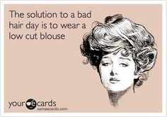 If only this would work for men. I wonder if a deep V neck would work?
