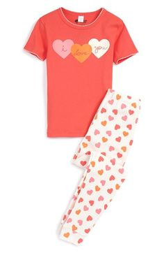 Tucker+++Tate+Two-Piece+Fitted+Pajamas+(Toddler+Girls,+Little+Girls+&+Big+Girls)+available+at+#Nordstrom