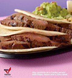 Taco Cabana Steak Fajita and Guacamole Photography by dick patrick studios