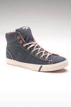 PRO-Keds Royal Plus Hi Washed Twill Sneaker