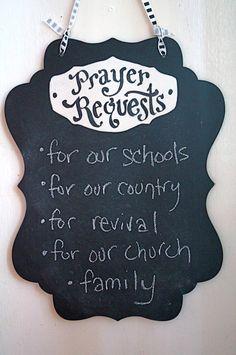 Prayer Request Chalkboard  Keaton Scroll Black vertical by kijsa, $20.00