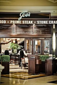Joe's at Caesar's Palace, famous for their stone crab.