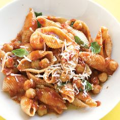 Garlic and red-pepper flakes give this protein- and fiber-rich pasta dish a kick.