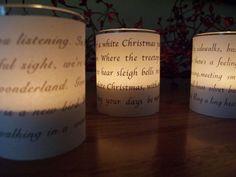 Mooi verlichte kerstliederen.