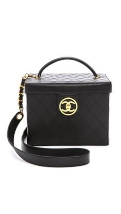 What Goes Around Comes Around Chanel Vanity Box with Strap
