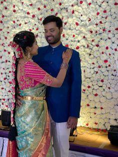 Bridal Silk Saree, Silk Sarees, Saree Blouse Patterns, Indian Bridal Fashion, Wedding Outfits, Unique Colors, Bridal Style, Color Combos, Blouse Designs