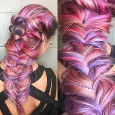 I used all @sexyhair styling products for this airy fishtail braid. Working on editing a video you guys now  #sexyhair #braid #style #hairstyle #pastelhair #hair