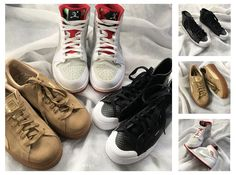 👉Swipe for close ups!👉Sneakers galore! We have sneakers for him and her! These will be available tomorrow at 10am, first come first served! Sorry, no holds on instagram items. • (from left to right) #puma - 8 - $22 #nikehare - 10.5 - $65 #adidas hightops - 6 - $40 • #platoscloset #sneakers #sneakerlife #nikejordan #airjordan1 #gentlyused #oakville #loyolakids #stignatiusofloyola #highschool #college #sheridancollege #oakville #thatoakvillelifestyle | www.platosclosetoakville.com