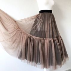 Tulle skirt with two colors sheer skirt mesh skirt two Stylish Dresses, Fashion Dresses, Bridal Skirts, Formal Skirt, Mesh Dress, Mesh Skirt, Mode Hijab, Skirt Outfits, Emo Outfits