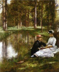 Julius LeBlanc Stewart - Reading [1884]