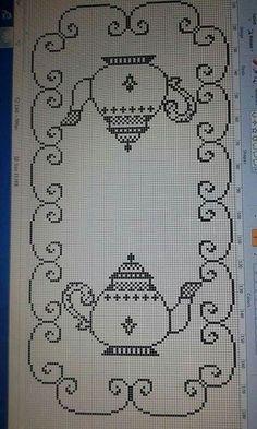 Läufer Weihnachten - Salvabrani Cross Stitch Bookmarks, Cross Stitch Borders, Cross Stitch Flowers, Cross Stitch Designs, Cross Stitching, Cross Stitch Embroidery, Cross Stitch Patterns, Hand Embroidery, Crochet Diagram