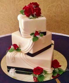 Floral cascade wedding cake | Pinterest | Fresh flowers, Wedding ...