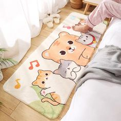 Aesthetic Themes, Aesthetic Bedroom, Kawaii Bedroom, Kawaii Shop, Kawaii Clothes, Floor Mats, Kawaii Anime, Harajuku, Cute Animals