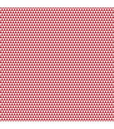 """Necessities Single-Sided Cardstock 12""""X12""""-Reds/Triangle"""
