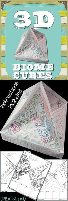 biomes 8 biomes included Cube pages instructions and colorful posters included Science Biology, Teaching Biology, Science Lessons, Science Education, Earth Science, Science Activities, Life Science, Forensic Science, Higher Education