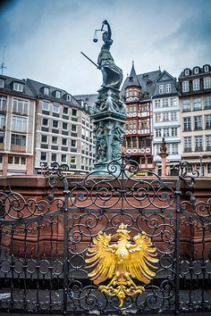Casco antiguo en Frankfurt (Alemania)