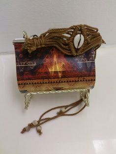 Enviroclectic Designs Coin Purse business card holder Removable bracelet/handle