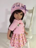 """Pretty in Pink"" Made for Effner Little  Darling 13"" by Treasured Doll Designs"
