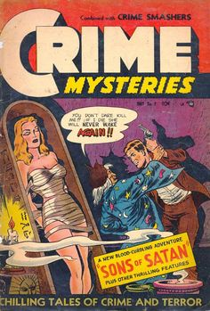 Crime patrol 15 true crime comics were popular in the late 40s crime mysteries comic cover issue 7 may 1953 reprint damsel in fandeluxe