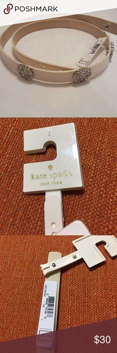 KATE SPADE LARGE CREAM BLING RHINESTONE BELT Brand new Kate spade belt in cream with rhinestones, size large.  MAKE AN OFFER kate spade Accessories Belts