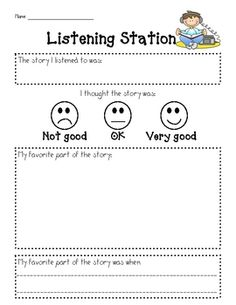 Listening Station Form   # Pin++ for Pinterest #