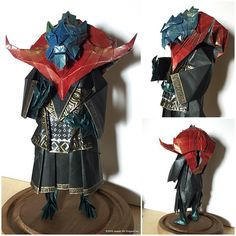 https://flic.kr/p/LQpxs9   Draconic Wizard. Complete. Head and shoulders mounted on the new body.