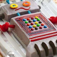 Robot Birthday Cake with video tutorial - 8 Super Fun Ways to Decorate Birthday Cake - Grandparents.com