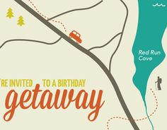 30th Birthday Getaway Invitation