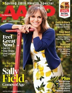 Actress Sally Field covers the AARP April/May issue