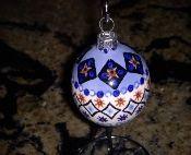 Handpainted Polish Pottery Christmas Ball - 84 - Wiza Factory