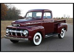 1952 ford f100-one day when the kids are all out, I want this. :)