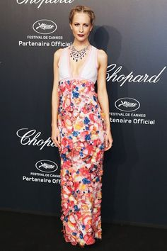 Poppy Delevingne Cannes Film Festival The Best-Dressed Celebrities via Celebrity Red Carpet, Celebrity Dresses, Celebrity Style, Cannes Film Festival 2015, Cannes 2015, Floral Applique Dress, Poppy Delevingne, Oscar Dresses, Red Carpet Gowns