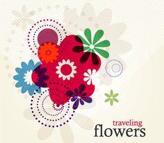 Traveling-Flowers-Vector http://freevectorsite.com/traveling-flowers-vector/