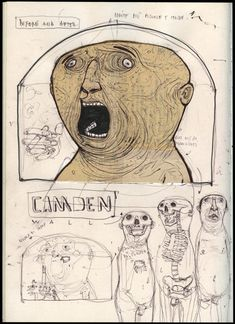 Sketches from Camden Sketchbook Inspiration, Art Sketchbook, Drawing Sketches, Art Drawings, Illustrations, Illustration Art, You Draw, Outsider Art, Oeuvre D'art