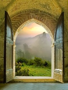 Amazing Photography !!! - Arched Doorway - Tuscany, Italy.