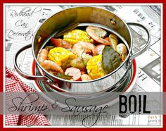 Shrimp & Sausage Boil Recipe redheadcandecorate.com