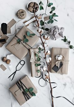 Get in the holiday spirit! As you're buying gifts, add a personal touch with Unique 50 Christmas gift wrapping ideas! Upcycled Kraft Paper Gift Wrapping Ideas From: The Found and The Fancy How to P… Decoration Christmas, Christmas Gift Wrapping, Noel Christmas, Christmas Presents, Holiday Gifts, Christmas Crafts, Christmas Paper, Christmas Holidays, Christmas Ideas