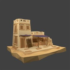 Low Poly Egypt House by Yalo173   3DOcean Egyptian Crafts, Ancient Egyptian Art, Ancient Aliens, Ancient History, Ancient Greece, Tower Defense, Egypt Games, Pyramid House, 3d Pokemon