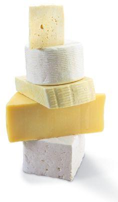 Greek Cheese Tower of Feta, Neochoroudas Cheese, Kefalotiri, Paneraki, Saganaki. Cheese Tower, Greek Cheese, Greece Food, Queso Cheese, Greek Beauty, Go Greek, Artisan Cheese, Greek Recipes, Bon Appetit