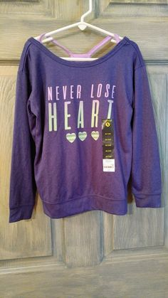 d0aa4594aa0 NWT Xersion girls top Size XS(6 6X) purple long sleeves  fashion